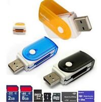 Mini All in One USB 2.0 Smart Card Reader SD/MMC/TF/Micro MS M2 Card Reader Hot
