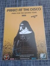 PANIC AT THE DISCO - 2018 Australia Tour SIGNED AUTOGRAPHED Poster  BRENDON URIE