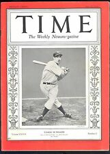 1936 Joe DiMaggio TIME Magazine - NICE!  New York Yankees