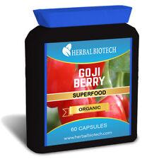 HerbalBioTech 100% Pure Organic Goji Berry Capsules UK MADE Wolfberry No Fillers