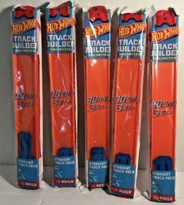 5 Packs of Hot Wheels Orange Straight Track Builder Unlimited NIP