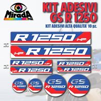 KIT ADESIVI STICKERS AUTOCOLLANT PER BMW GS R 1250 ADVENTURE MOTO RALLY NOVITA'