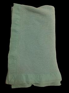 Baby Morgan Aqua Thermal Acrylic Nylon edge Crib Blanket