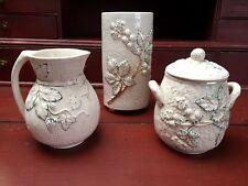 "Lot (3) Period 1880s ""Signed"" Avalon Faience-Chesapeake Pottery Majolica Items"