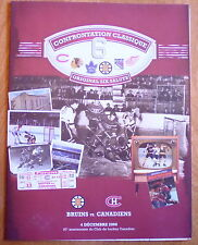 Montreal CANADIEN * Boston BRUINS /2008 original six 6 rare centennial souvenir