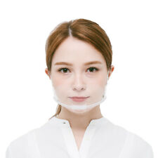10 Pcs Reusable Safety Clear Face Shield Chef Salon Plastic Covering 701