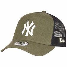 New Era Adjustable Trucker Cap - HEATHER NY Yankees olive
