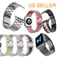 Stainless Steel Band Strap Bracelet For Apple Watch Series 5 4 3 2 38/40/42/44mm
