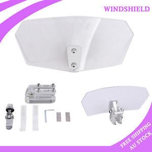 Motorcycle Windshield Windscreen Screen Clip On Extension Spoiler Wind Deflector