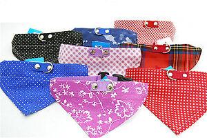 """Hundehalsband mit Tuch Bandana Größe """"M"""" - vielen Farbvarianten"""