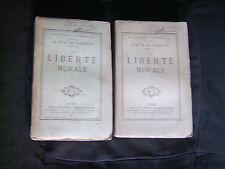 La liberté morale par Le Comte A. de Gasparin - 2 tomes - Michel Lévy 1868
