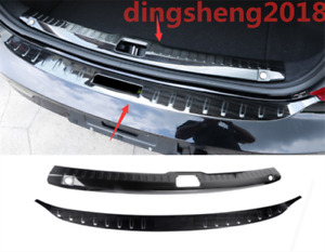 2PCS Rear Trunk Sill Plate Guard Protector Cover For Volvo S90 2017-2020