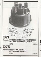 FORD CORTINA MK2 1300 CAPRI 1300 68-70  ESCORT MK1 67-70 DISTRIBUTOR CAP