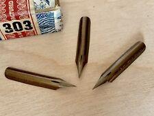 3 Vintage JOSEPH GILLOTT'S 303 Extra Fine Flex DREAM POINT Dip Pen Nibs