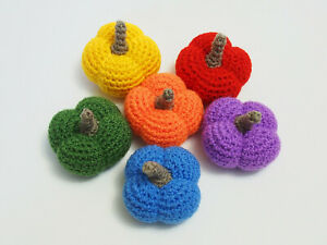 Mini pumpkins for Fall home decor set of 6 in rainbow or terracotta