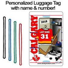 Personalized Calgary Hockey Luggage Tag