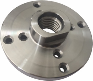 """Steel Face Plate 1""""-8 Threaded For Wood Lathe Turning (4"""")"""