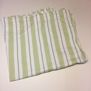 """Pottery Barn Kids Green White Striped Curtain Panel 44"""" x 84"""" Lined Cotton"""