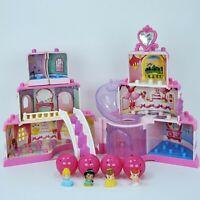 Squinkies Disney Princess Cake Castle Dispenser Belle Ariel Jasmine Cinderella