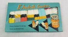 1950's Jackette Coasters Barware Made in Japan Colorful Knit Original Box