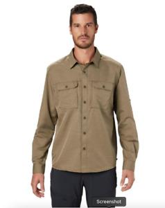 NEW! MOUNTAIN HARDWEAR CANYON™ LONG SLEEVE SHIRT MEN'S M GREEN  $65 #1648751