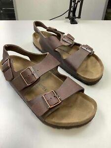 Men's Birkenstock Brown Leather Sandals Size 10