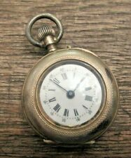 Antique 10K Gold Remontoir Cylindre French Lady's Pocket Watch 10 Jewel