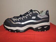 Womens Skechers 8.5M Steel Toe Athletic Work Shoes Navy Gray