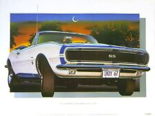 1967 CAMARO SS CLASSIC CAR POSTER AUTOMOTIVE FINE ART PRINT GICLEE OF PAINTING!!