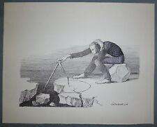 Jean Gourmelin dessin à l'encre sur papier signé prix de l'humour noir art