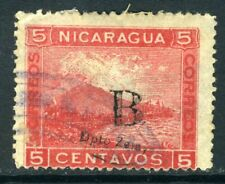Nicaragua 1905 Bluefields 5¢ Carmine  Lithographed Momotombo VFU T738