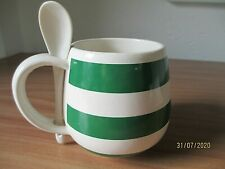 "Quaker ""Oat so Simple"" Cup porridge mug green with spoon"