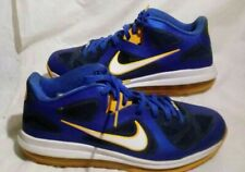Nike LeBron 9 Low Blue /Gold Entourage Sneakers 510811 -402 Pre -Owned Sz -12
