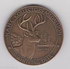 N.A.H.C.  North America Hunting Club -  Medallion / Token  -  WHITETAIL DEER