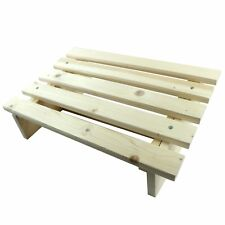 New listing Natural Wood Foot Rest Foot Stool Home Office Desk Furniture Self Assembly