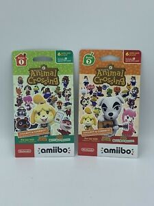 Nintendo Animal Crossing Amiibo (Series 1, 2) Character Cards Pack NEW SEALED