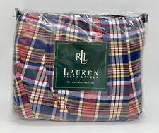 Ralph Lauren Kennebunkport Madras California King Bed Skirt Dust Ruffle Plaid