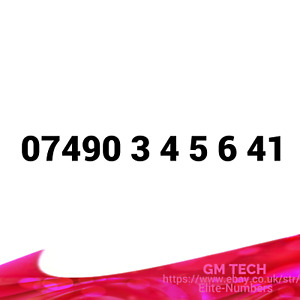 07490 3456 41 EASY MOBILE NUMBER PAY AS YOU GO SIM CARD UK GOLD PLATINUM VIP