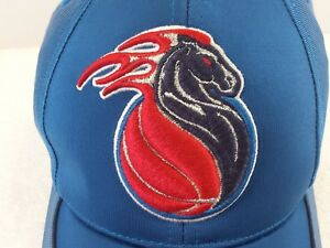 NIKE NBA Detroit Pistons Former Logo Blue Embroidered Cap Hat Collectible Clean