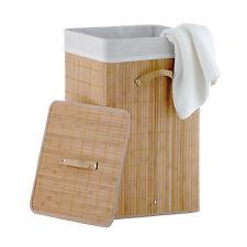 Bambus Wäschekorb Wäschesammler Wäschetruhe Wäschebox 70L Wäschetonne Box