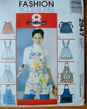 11cf39451a Sewing Pattern McCall s 2947 Miss Aprons 8 Styles Half   Full Size With  Applique