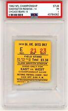 1942 NFL CHAMPIONSHIP TICKET STUB PSA CHICAGO BEARS WASHINGTON REDSKINS POP 1  !