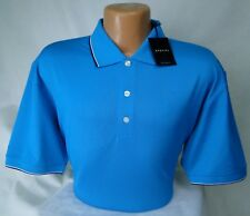 Dunning Golf Blue Polo Performance Stretch PGA Tour Quality MSRP $89 NWT - LG