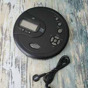 GPX PC332B Portable CD Player Antiskip Protection Fm Radio w/ Earbuds newopenbox