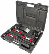 Am-Tech 7pc Car Auto Body Panel Repair Tool Kit Beating Hammers Heel Dolly