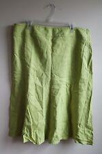 Talbots 20 Lime Green Irish Linen Midi Skirt