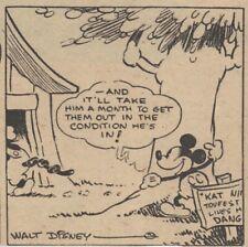 Mickey Mouse Daily Strip - Feb 9, 1931 - VERY RARE Early Floyd Gottfredson art