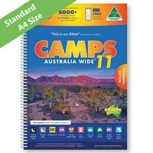 2021 CAMPS 11 AUSTRALIA WIDE BOOK CARAVAN CAMPING MAP GUIDE SPIRAL BOUND PARTS