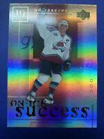 2000-01 Upper Deck UD Reserve On-Ice Success #OS3 Joe Sakic Colorado Avalanche