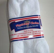 Physicians Choice 6 Pr Crew White 10-13 diabetic socks